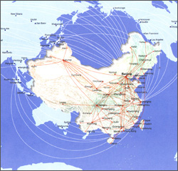 Aviation map of China