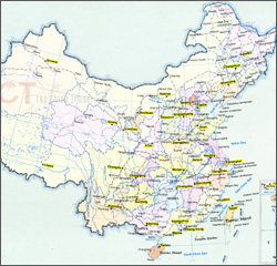 Railways map of China