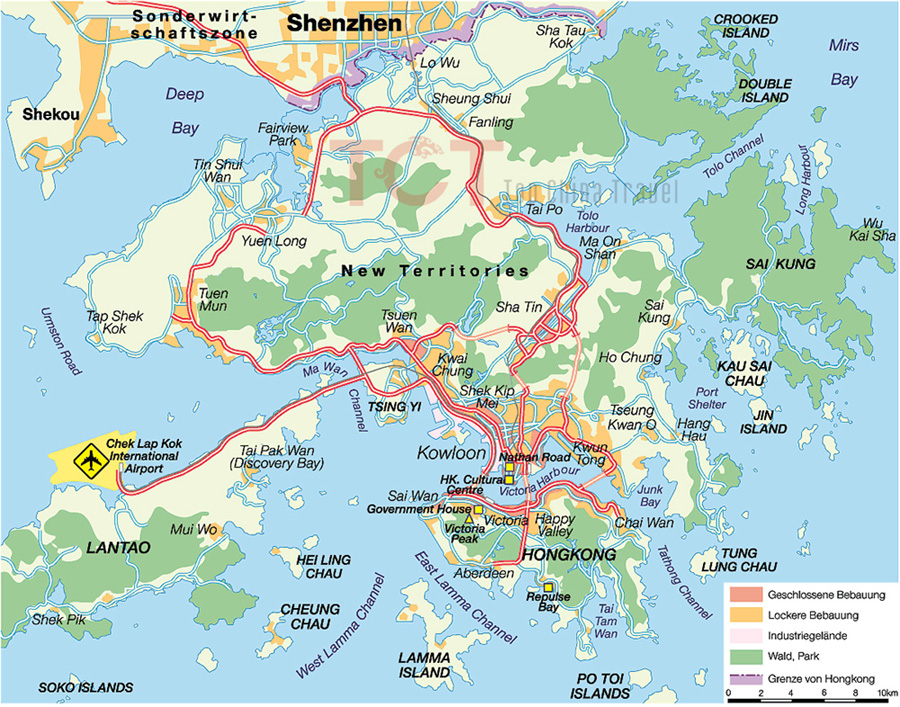 Hong Kong Maps Map Of Hong Kong China Hong Kong Tourist Maps - Hong kong map