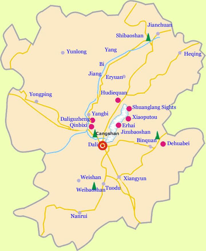 Map of Dali