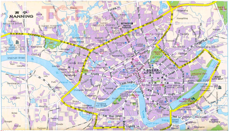 Nanning China  City new picture : Nanning Maps, Map of Nanning China, Nanning Tourist maps,Nanning City ...