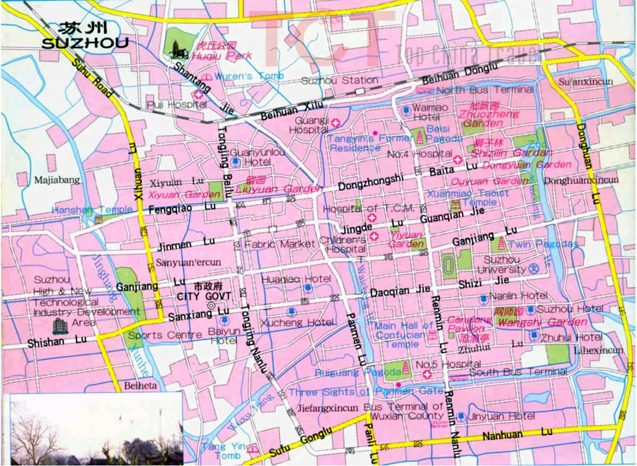 Suzhou Maps Map Of Suzhou China Suzhou Tourist MapsSuzhou City Map - Suzhou map