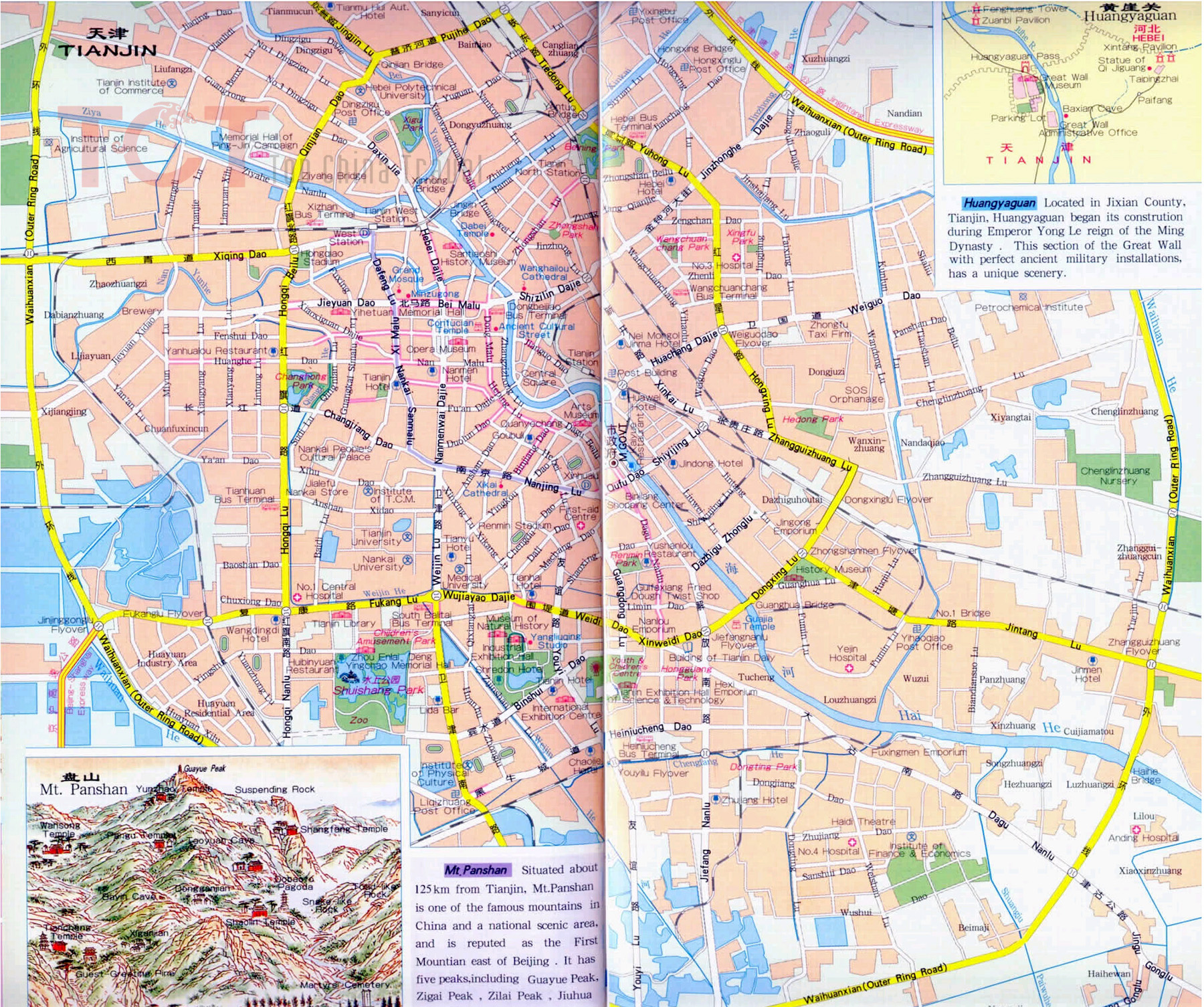 Map of Tianjin