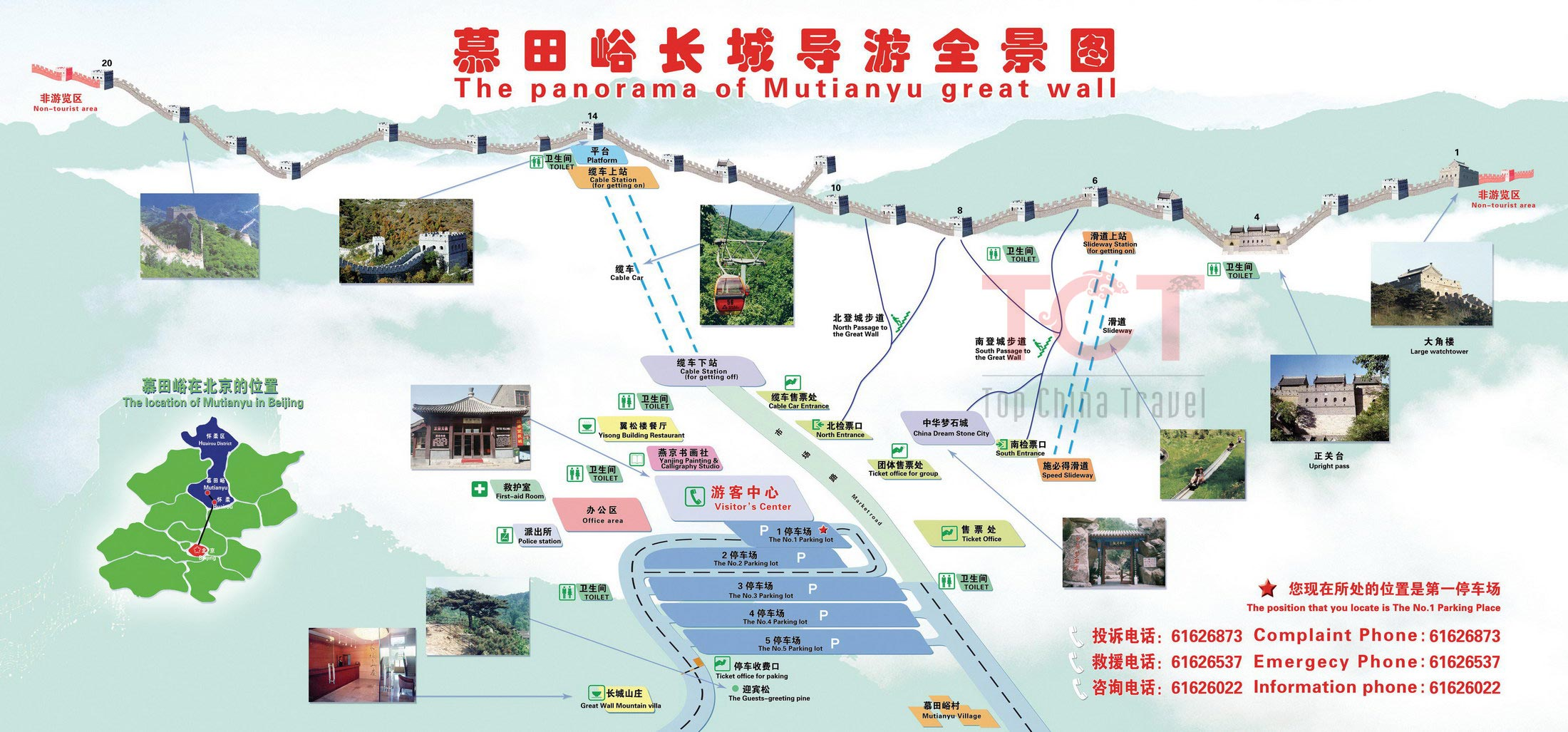 Map of the Mutianyu Great Wall