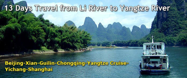 13 Days Yangtze River and Li River Cruise Tour