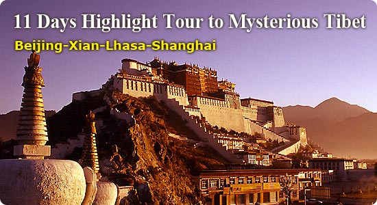 Tibet Travel - 11 Days Highlight Tour to Mysterious Tibet