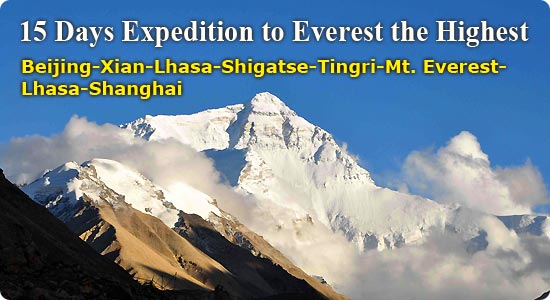 Tibet Travel - 15 Days Expedition to Everest the Highest