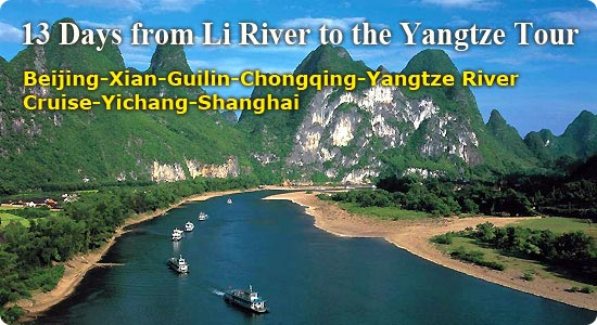 13 Days from Li River to the Yangtze Tour