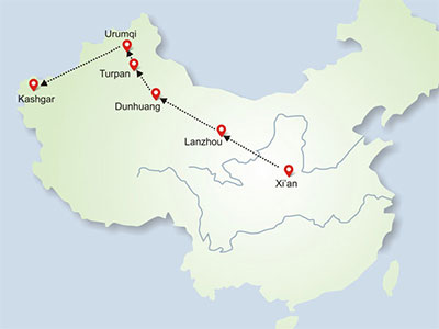 North Silk Road in China