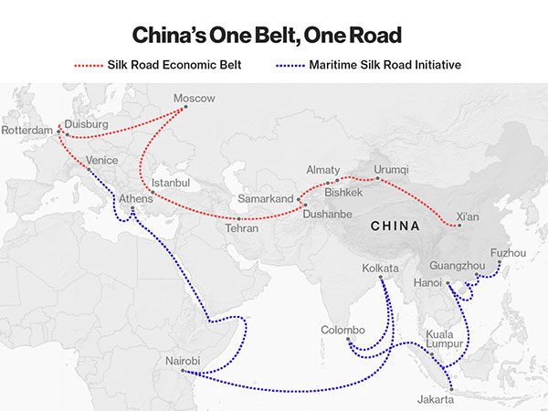 One Belt One Road Initiative, The Belt and Road Map & List