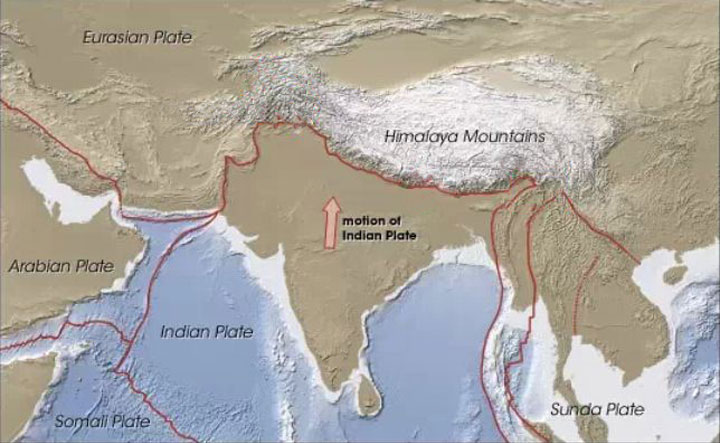 the collision of india and eurasia 50 million years ago and the birth of the mighty himalaya Few explanations about the birth of the majestc mountain earth movements the himalayan mountain system developed in a series of stages 30 to 50 million years ago the himalayan range was created from powerful earth movements that occurred as the indian plate pressed against the eurasian continental plate.